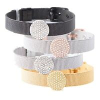 Fashion Jewelry Mesh Charm Bracelet Set with Deluxe Slide Charms and alloy B F2D