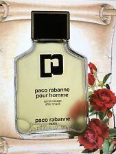 VINTAGE !!! Paco Rabanne after Shave 100 ml left splash men