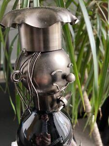 novelty metal wine bottle holder