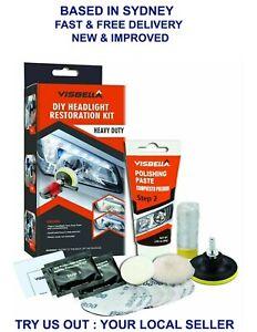 Visbella Car Motorcycle Headlight Restoring Polishing DIY Kit Lamp Lens Cleaning