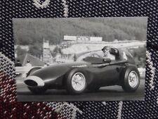 MOTORSPORT POSTCARD - TONY BROOKS VANWALL SPA-FRANCORCHAMPS 1958