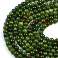 Semi-Precious Natural Green Jade 8mm Round Gemstone Jewellery Making Beads On...