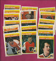 1982-83 OPC PHILADELPHIA FLYERS  CARD LOT INCL CLARKE + SITTLER  (INV#2585)