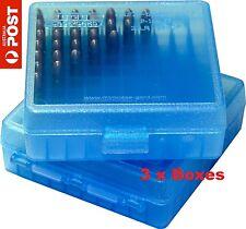 MTM 100 Round 22LR / 25ACP Flip-Top Ammo Box (3 Boxes) Clear BLUE - #P100-22-24