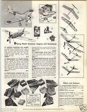 1962 PAPER AD Hi-Flyer Kite Box Kites Orbiteer Wen Mac Model Airplane Plane Kit