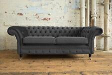 Chesterfield Grey Velvet Sofas for sale | eBay