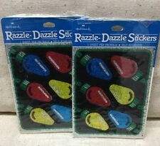 Vtg Hallmark Stickers Christmas Lights Razzle-Dazzle 1980's Sealed SUPER RARE