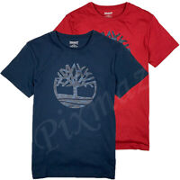 Timberland Men's Short Sleeve Camouflage Tree Logo T-Shirt A1N4A