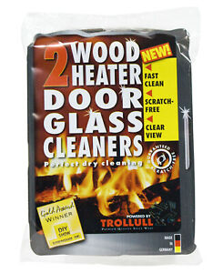 FreePost; WBA000  6.5x10cm; Wood Heater Door Glass Cleaner hand blocks; Dark Gre