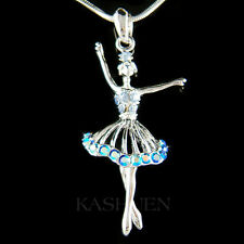 w Swarovski Crystal ~Blue BALLERINA~ Ballet Crown Necklace The Nutcracker Lover