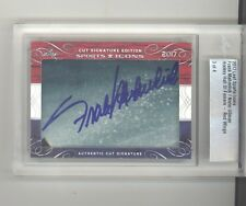 Frank Mahovlich Norm Ullman auto card /4 2017 Leaf Sports Icons cut NM Red Wings