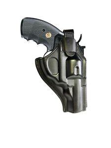 Leather Revolver Holster fits  Colt Python, Cobra, Ruger , S&W,357 magnum, RH