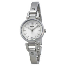 Fossil Georgia Mini Silver Dial Stainless Steel Ladies Watch ES3269