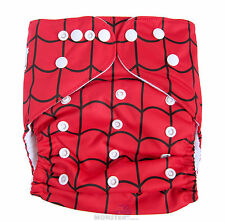 Junior XL Modern Cloth Nappy (MCN) FREE Insert, Baby Toddler upto 20kg Spiderweb