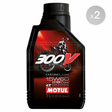 Motul 300V 4T 15w-60 Factory Line Off Road Motorcycle Engine Oil - 2 x 1 Litres