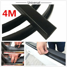 Black 4M Rubber Soundproof Sealed Strips For Car Front /Rear /Side Windows Edge