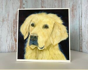 Golden Retriever, Watercolour Print Greeting Card, Customise for any Occasion