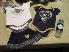 2-Milwaukee Brewers BABY GIRLS ONE PIECES 1-0/3 & 1-3/6 MOS,3/6 SHORTS & BOTTLE