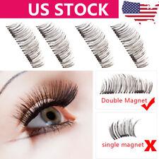 3D Double Magnetic False Eyelashes Natural Eye Lashes Extension Handmade 4P