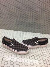 VANS Slip On Gray/Black Checkered Canvas Skate Shoes Men's Size 6.5  Women's 8