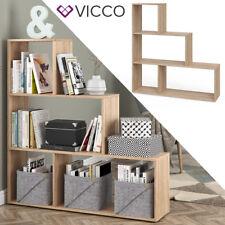 VICCO Treppenregal ASYM 4 Fächer Raumteiler Bücherregal Aktenregal Büroregal