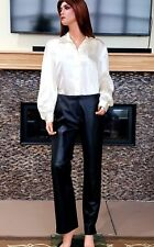 "Women's Gorgeous Black Leather Pants Size 6 Waist 30"" Inseam 31"""