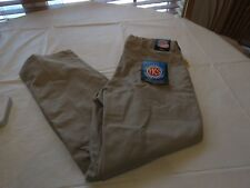 Boy's youth TKS school uniform tan khaki pants NWT 30 husky pleated adjust waist