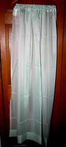 """JCPenney Sheer Rod Pocket Panel Sheer Curtain 60"""" W X 54"""" L  Sea Green NEW"""