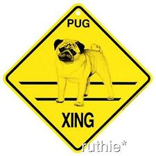 Pug Dog Crossing Xing Sign New