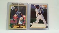Bo Jackson 1987 Topps Rookie + Limited Edition 1990 Superstar #1