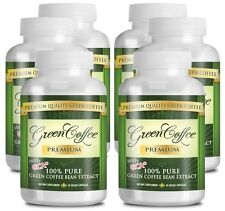 Green Coffee Premium - Weight Loss Supplement - 50% Chlorogenic Acid -6 Bottles