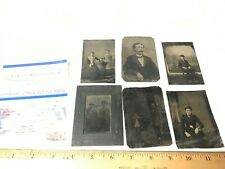 Vintage Photo Photograph Lot of 6 Tin Types pictures  Kids Pets & Family