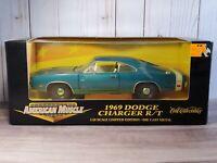 Ertl American Muscle 1969 Dodge Charger R/T 1:18 Scale Diecast 69 Mopar Hemi Car