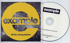 EXAMPLE All The Wrong Places 2013 UK 1-trk promo test CD radio edit