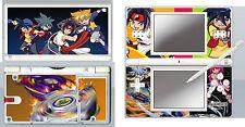 nintendo DS Lite - BEYBLADE - 4 Pièces Autocollant / Sticker Skin vinyle étui