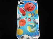 3D Hologram Effect Sports Balls Hard Cover Case 4 iPhone 4 4s New Soccer more