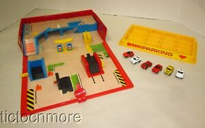 ORIGINAL 1987 GALOOB MICRO MACHINES CITY SERVICE ACTION PLAYSET COMPLETE + CARS