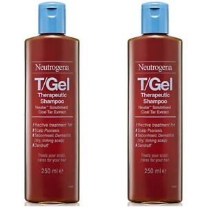 2 x Neutrogena T/Gel Therapeutic Shampoo Treatment 250ml (2 Bottles - Exp 2023)