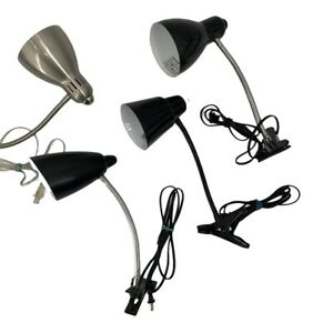Lot of 4 Desk Bed Lamps 9320 Reading Light with Clip