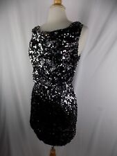 Lette Women's Black Sequin Formal Cocktail Dress Women's Large USA
