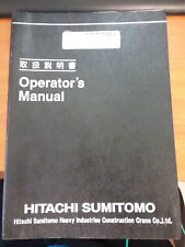Hitachi Sumitomo Crane SCX2800-2 Operators Manual