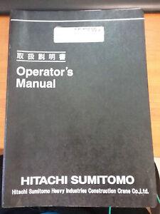 Hitachi Sumitomo Crane SCX2800-2 Operators Manual