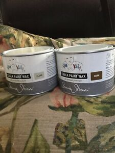 Annie Sloan Wax for Chalk Paint- add patina -tin each of CLEAR &  DARK wax c