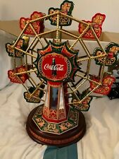 More details for collector's edition franklin mint coca cola 1999 musical wind up ferris wheel