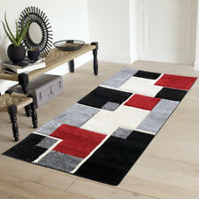 Area Rugs for Bedroom Dining Living Room Modern Black/Beige/Red Geometric 2x5