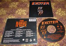 EXCITER Kill After Kill CD ORG 93 heavy metal maniac violence force razor thrash