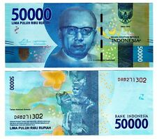 2016 Indonesia 50,000 Rupiah Uncirculated One Note