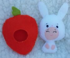 Small Felt Plush Toy Rabbit with carrot outfit Easter Present Handcrafted