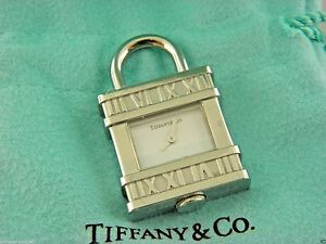Tiffany & Co Atlas Numeral Watch Padlock Watch Pendant For Necklace Rare