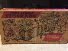 Marx Fort Apache Stockade Play Set W/ Box